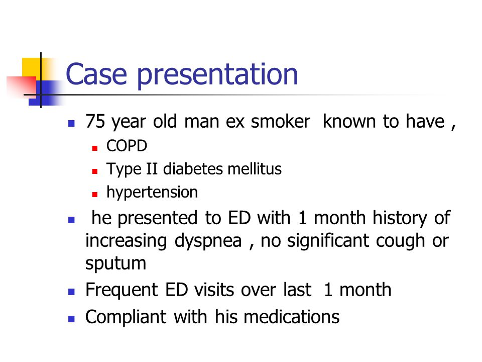Clinical Case Study on COPD - UK Essays | UKEssays