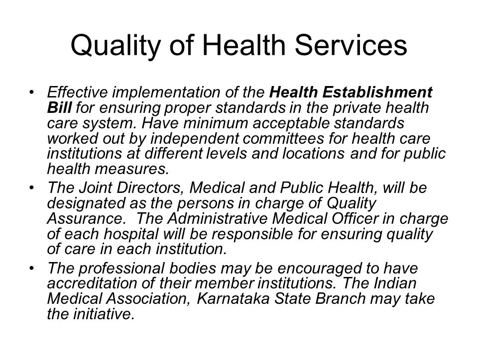 Quality of Health Services