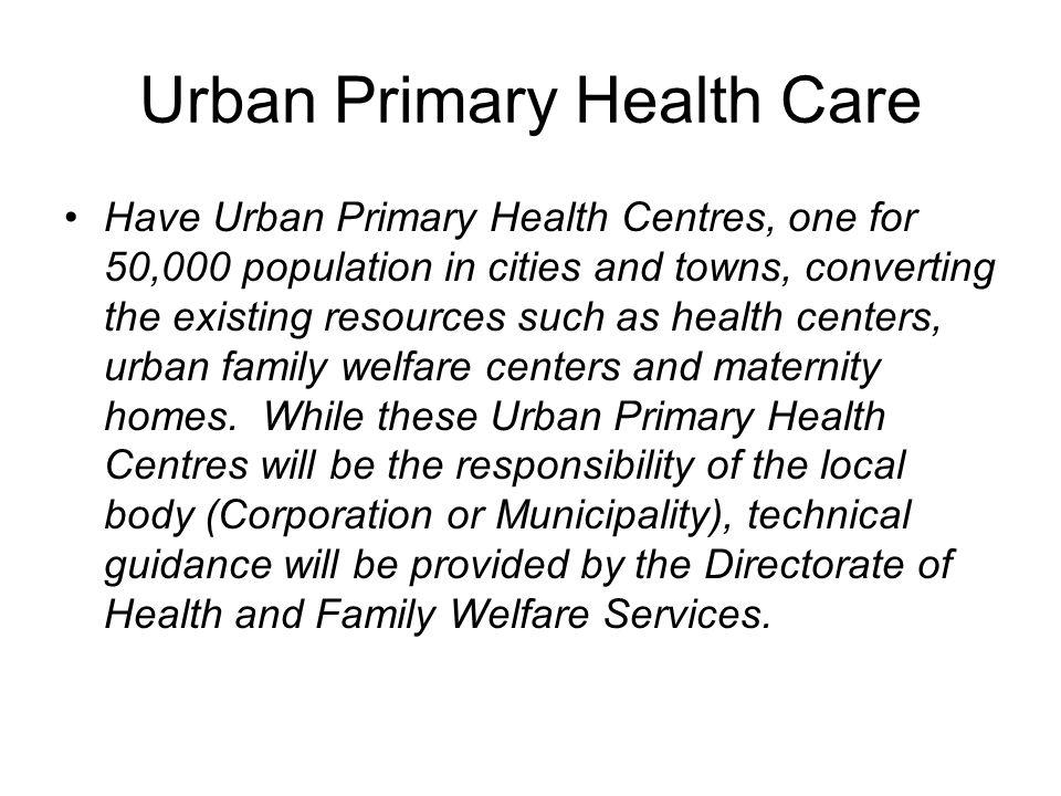 Urban Primary Health Care