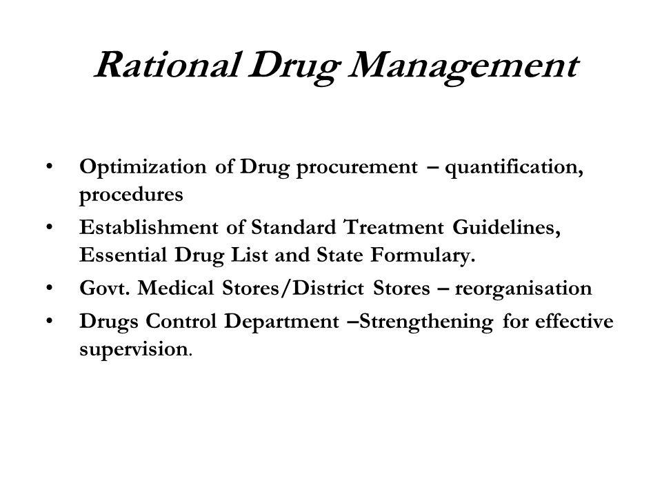 Rational Drug Management
