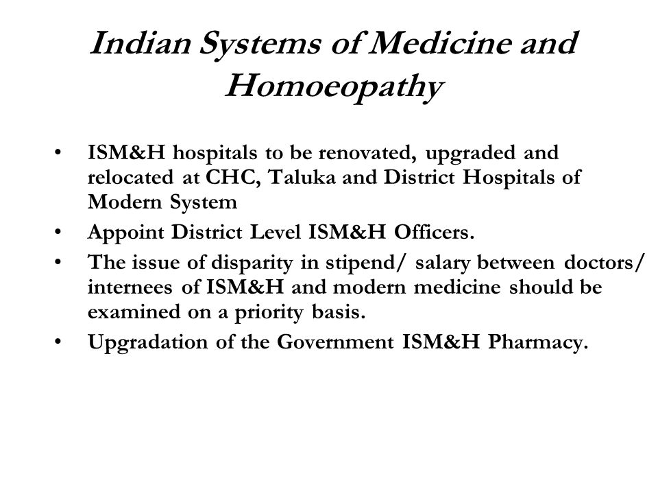 Indian Systems of Medicine and Homoeopathy