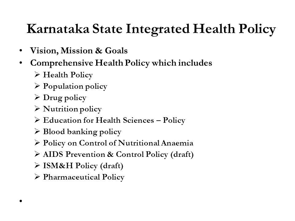 Karnataka State Integrated Health Policy