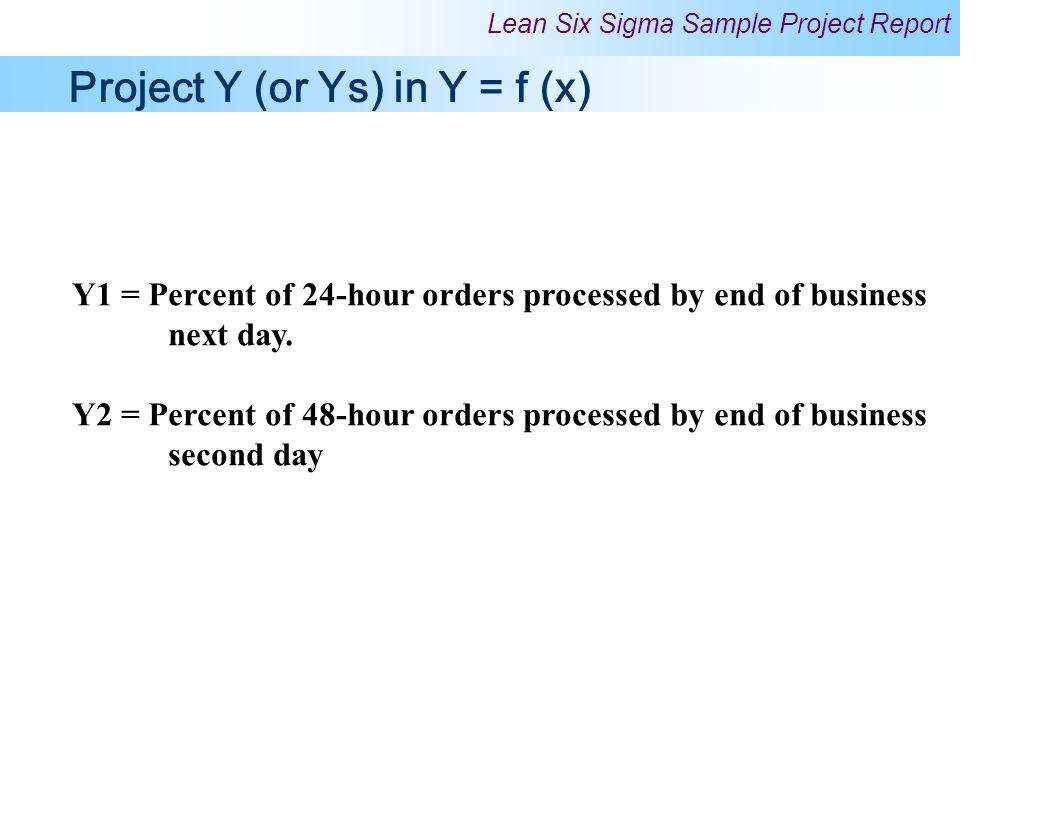 Project Y (or Ys) in Y = f (x)