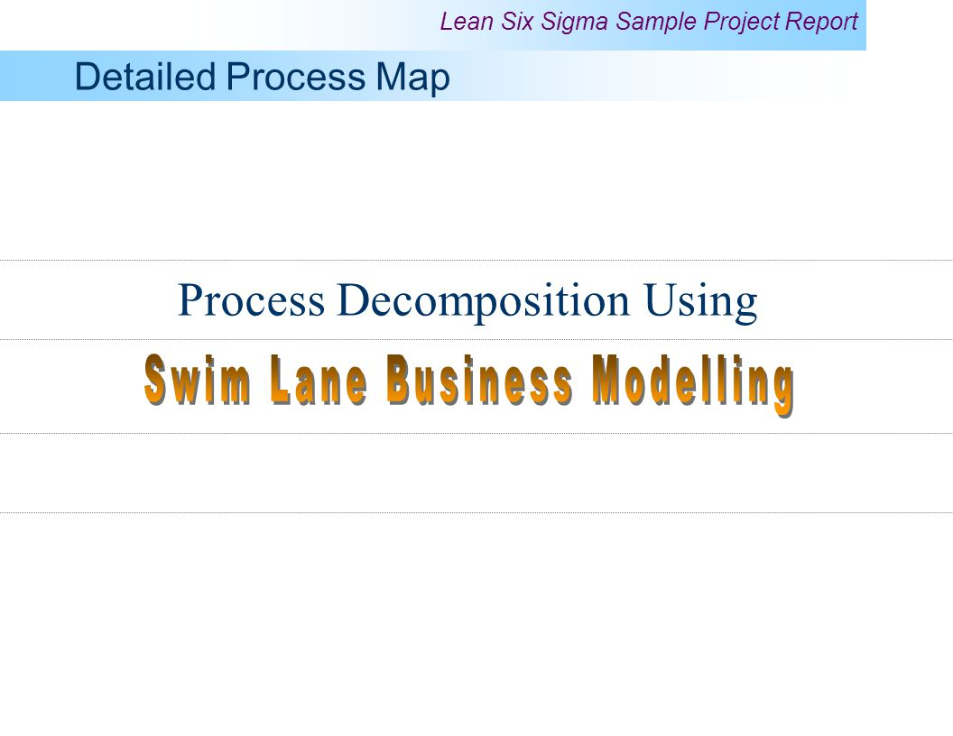 Swim Lane Business Modelling