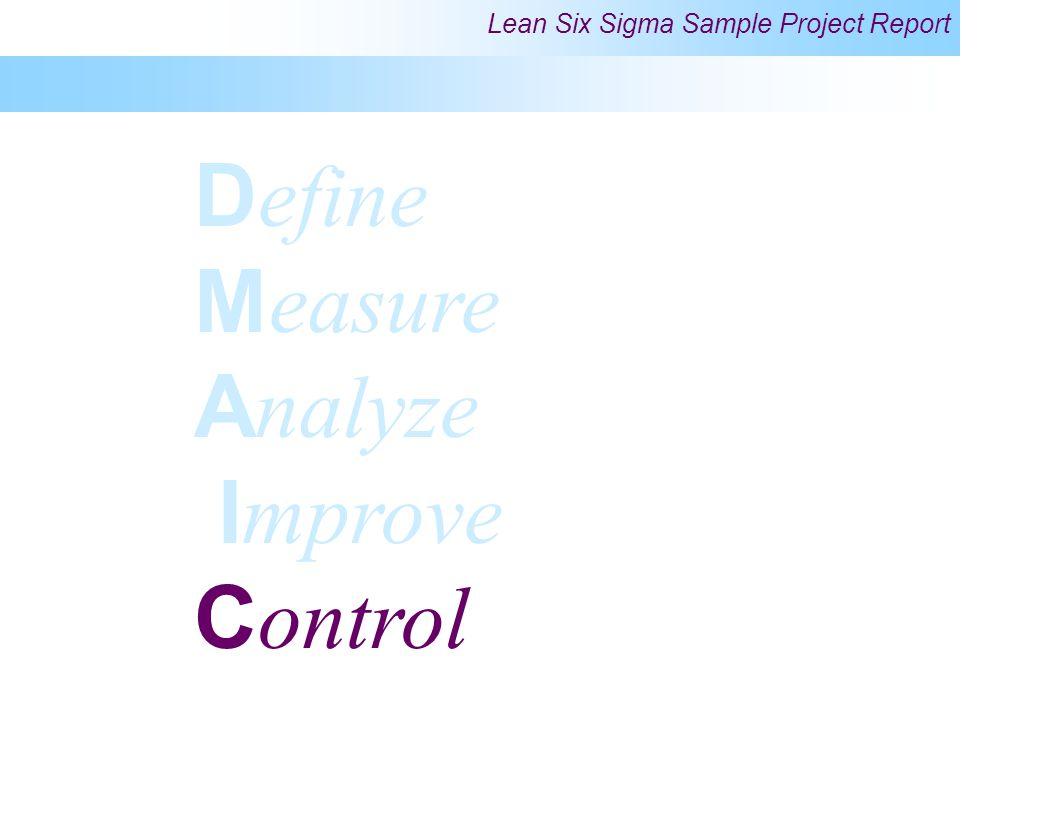 Define Measure Analyze Improve Control