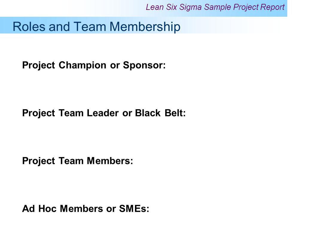Roles and Team Membership
