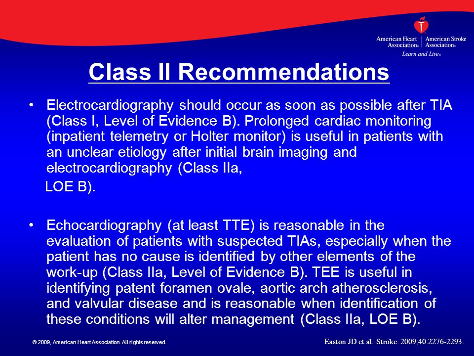 Class II Recommendations