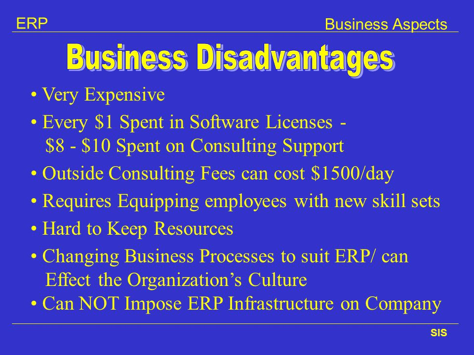 Business Disadvantages