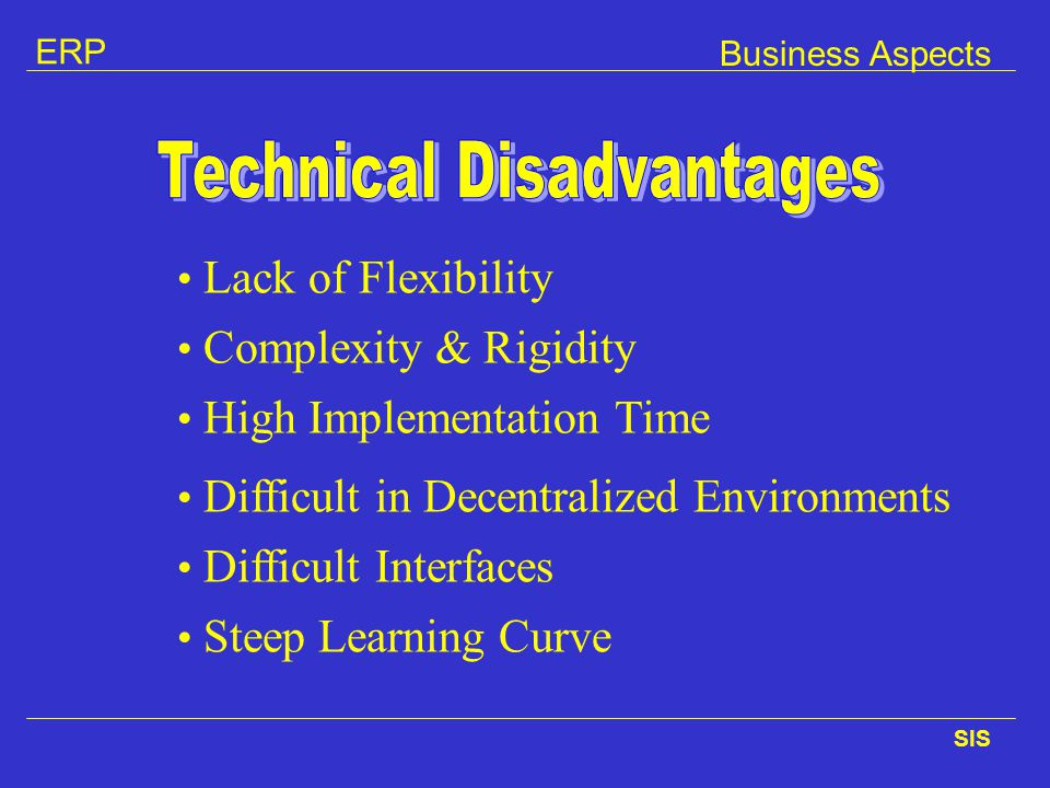Technical Disadvantages