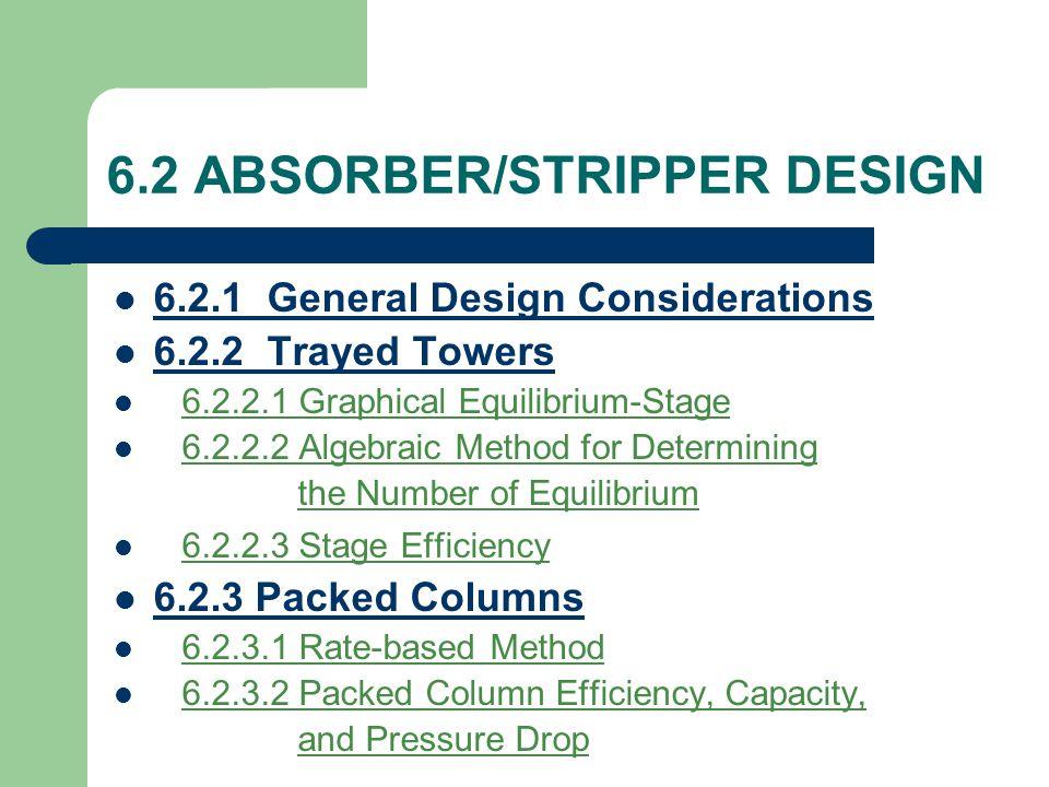 6.2 ABSORBER/STRIPPER DESIGN