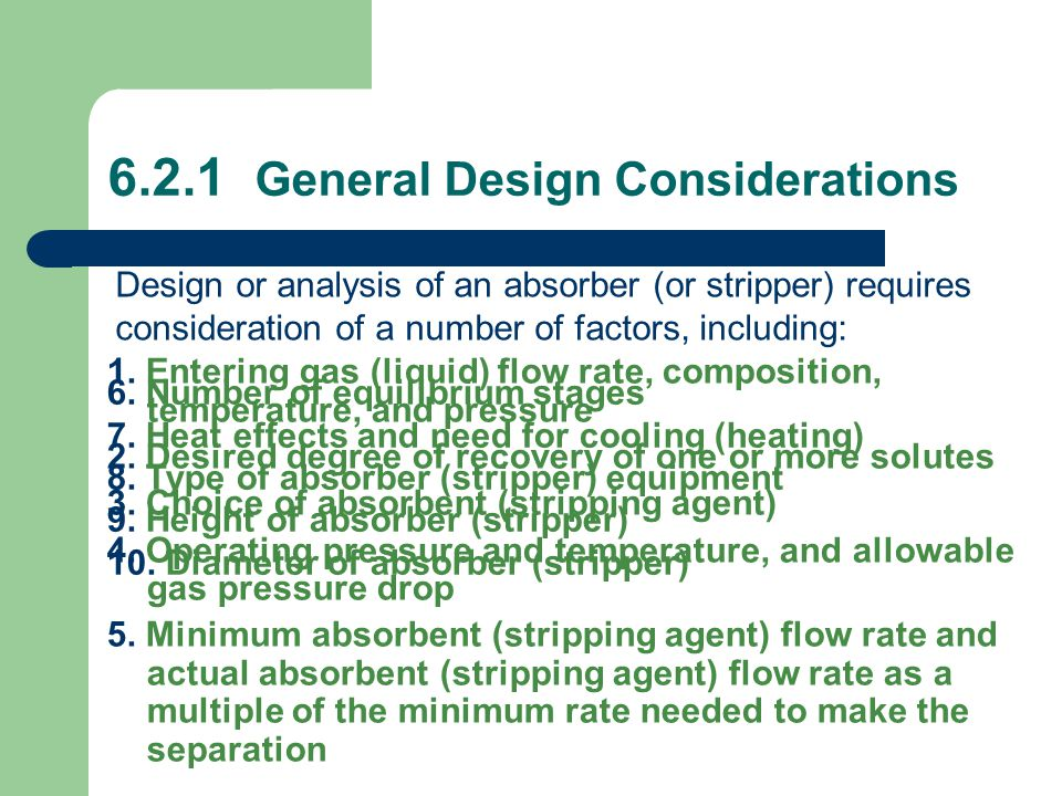 6.2.1 General Design Considerations