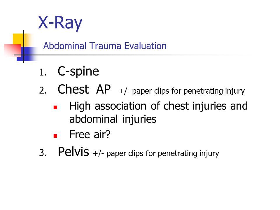 X-Ray Abdominal Trauma Evaluation