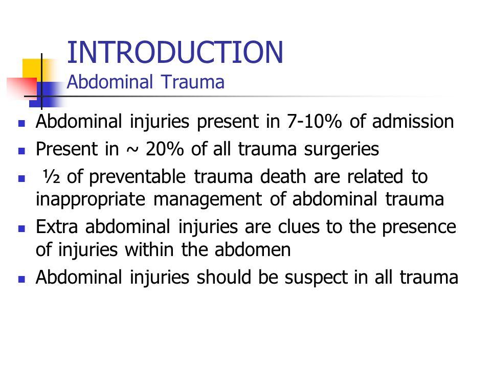 INTRODUCTION Abdominal Trauma