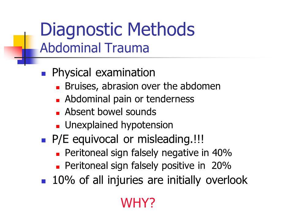Diagnostic Methods Abdominal Trauma