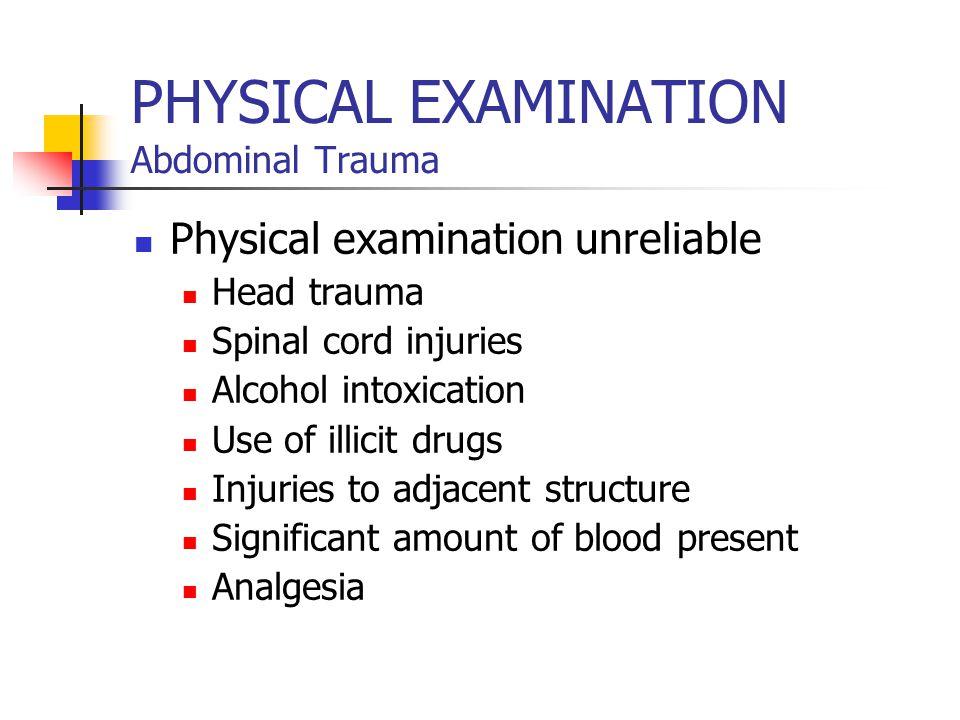 PHYSICAL EXAMINATION Abdominal Trauma