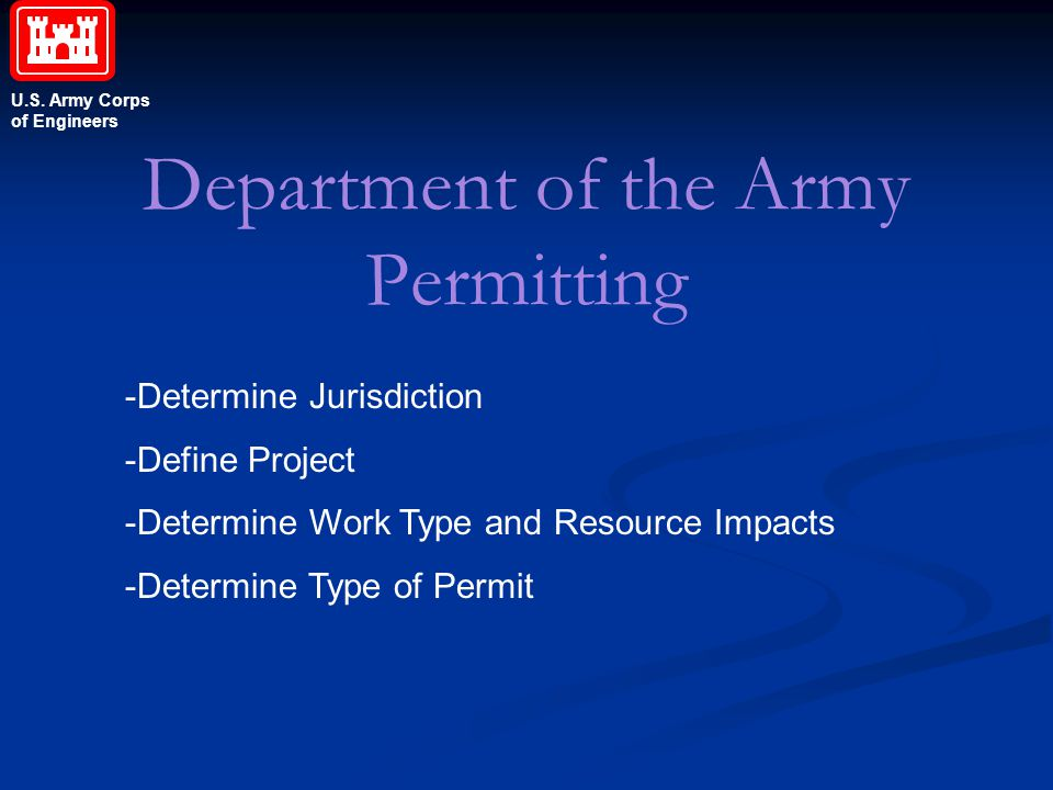 Department of the Army Permitting