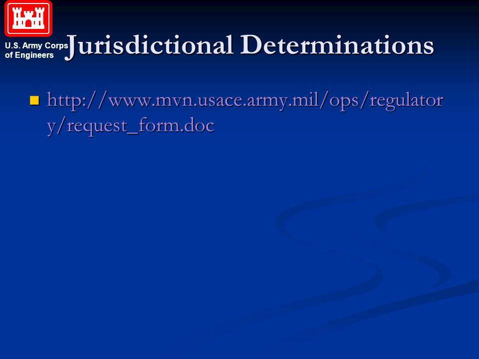 Jurisdictional Determinations