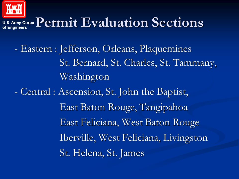 Permit Evaluation Sections