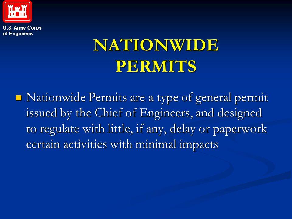 NATIONWIDE PERMITS