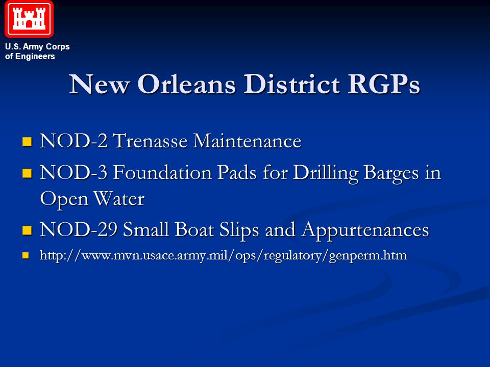 New Orleans District RGPs