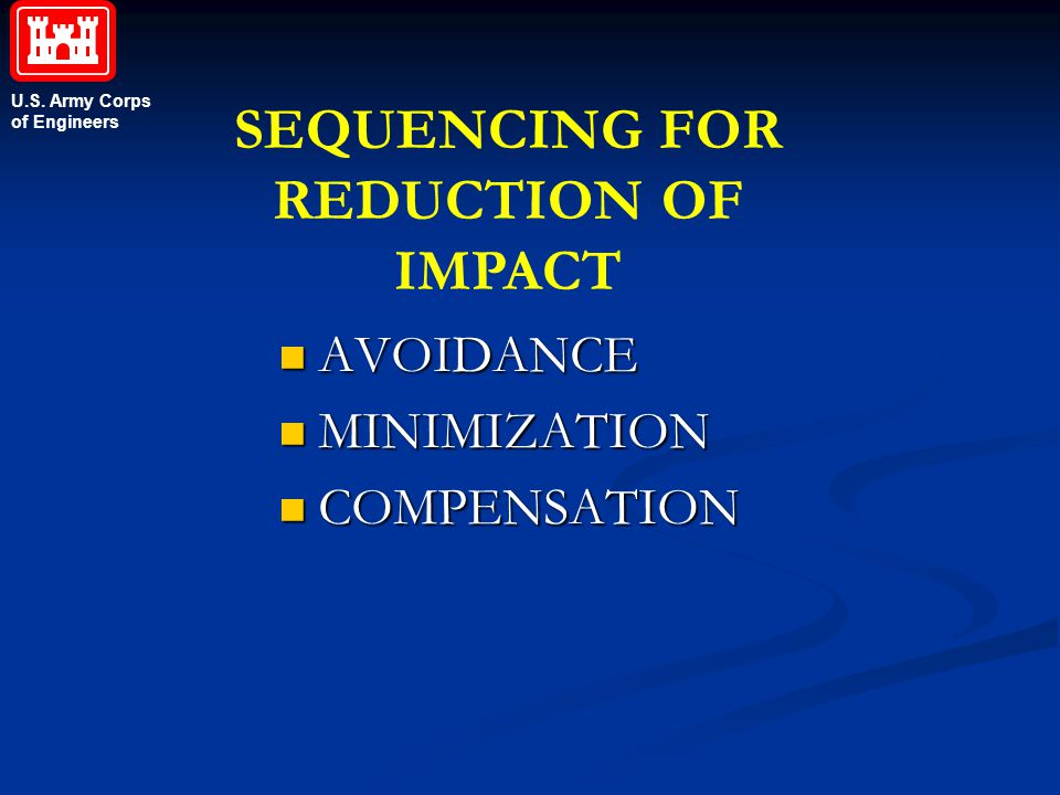 SEQUENCING FOR REDUCTION OF IMPACT