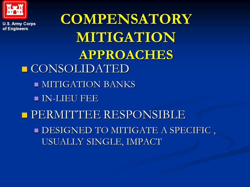 COMPENSATORY MITIGATION APPROACHES