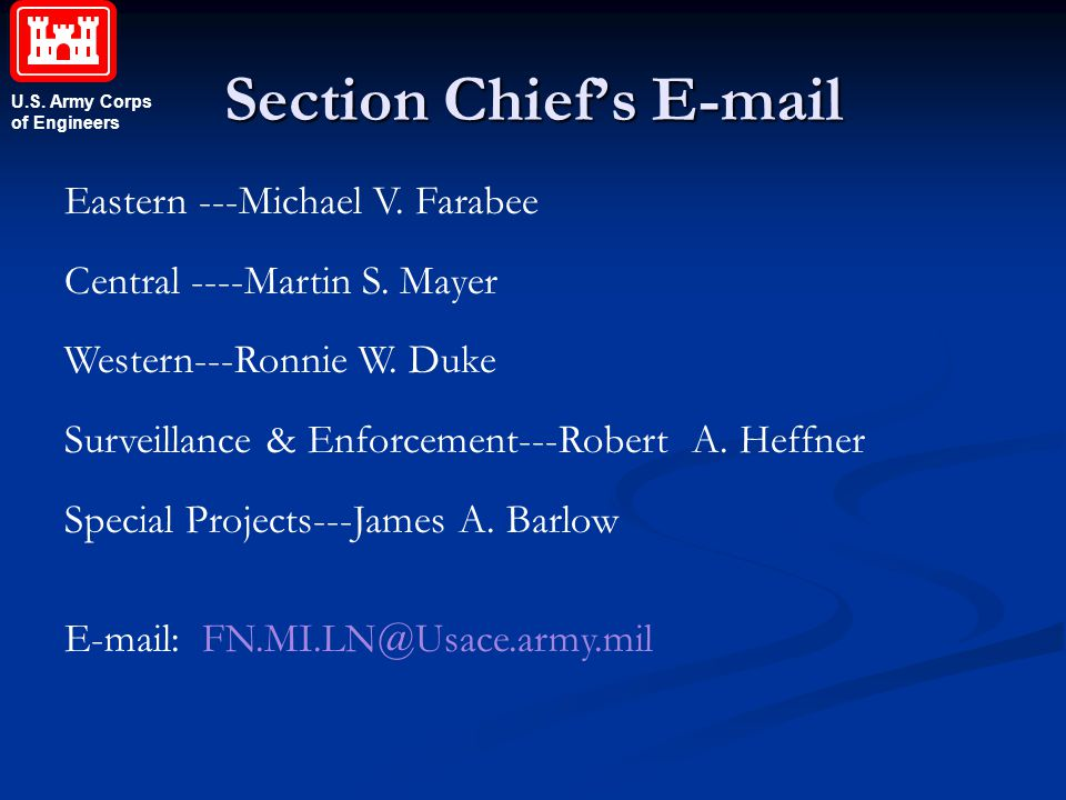 Section Chief's E-mail