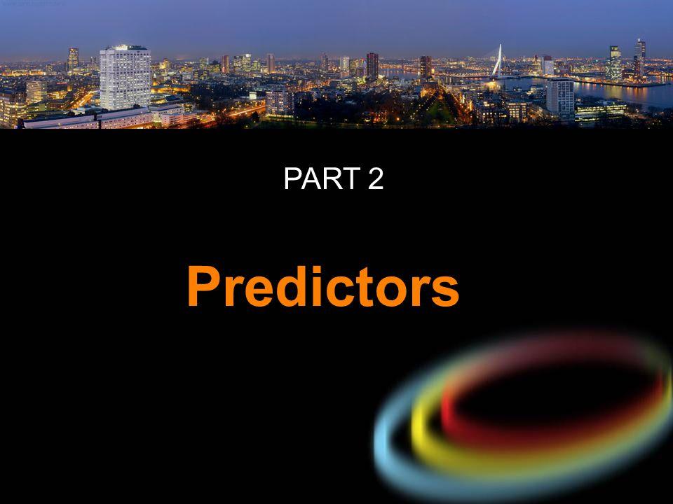 PART 2 Predictors 11