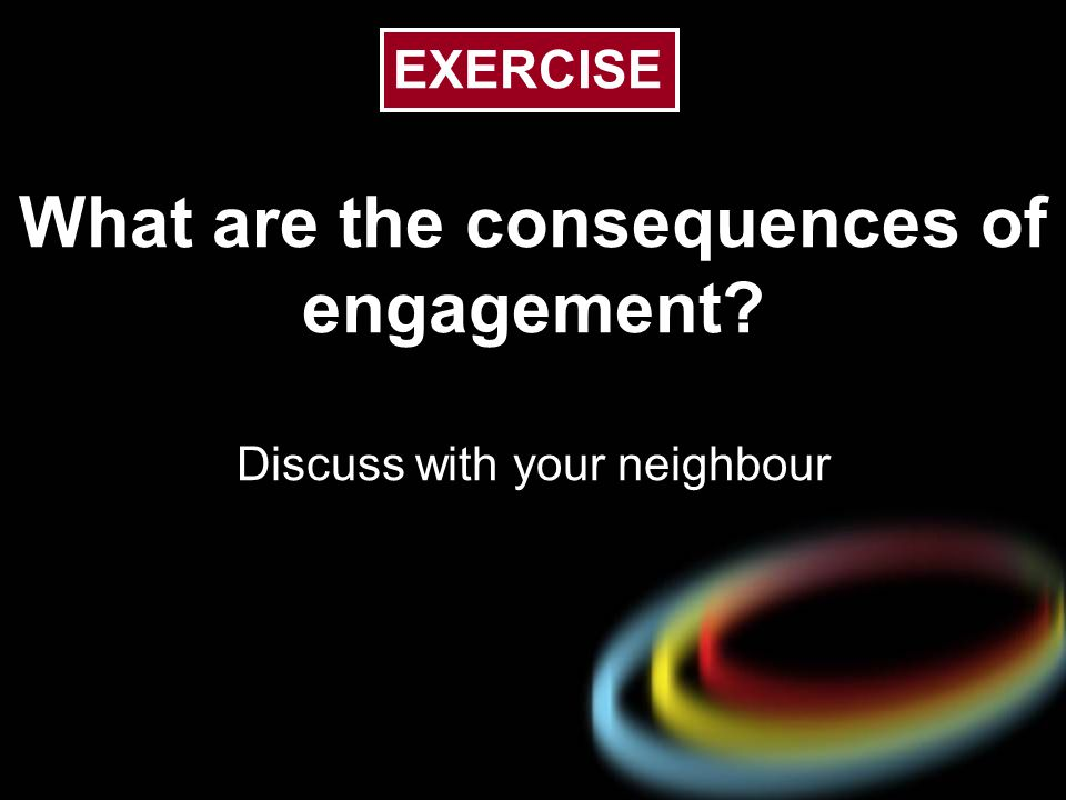 What are the consequences of engagement Discuss with your neighbour