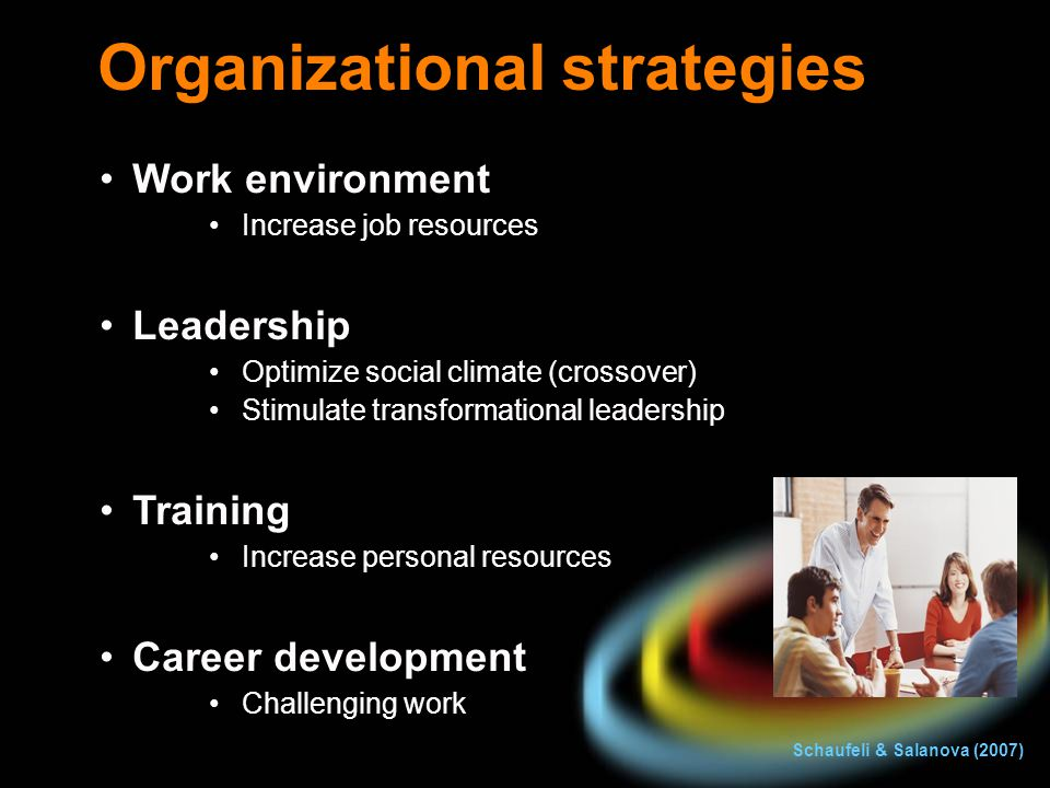 Organizational strategies