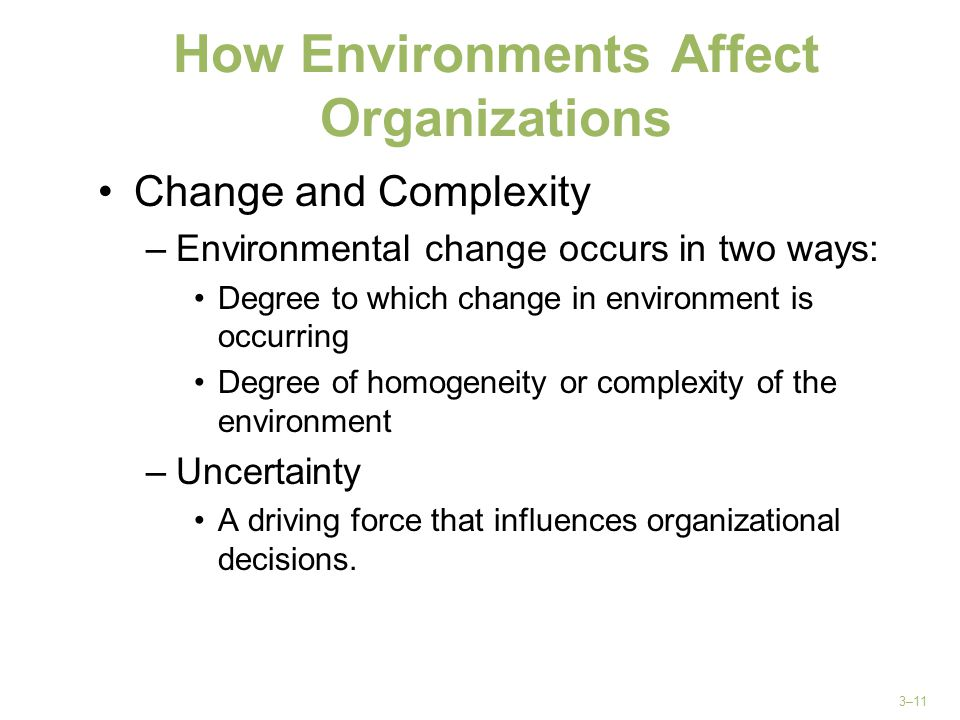 How Environments Affect Organizations