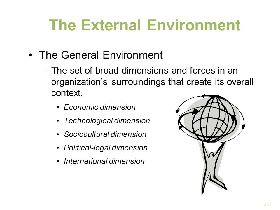 the external environment and its effect A negative externality (also called external cost or external diseconomy) is an economic activity that imposes a negative effect on an unrelated third party it can arise either during the production or the consumption of a good or service [7.