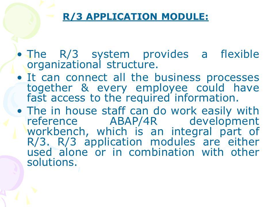R/3 APPLICATION MODULE: