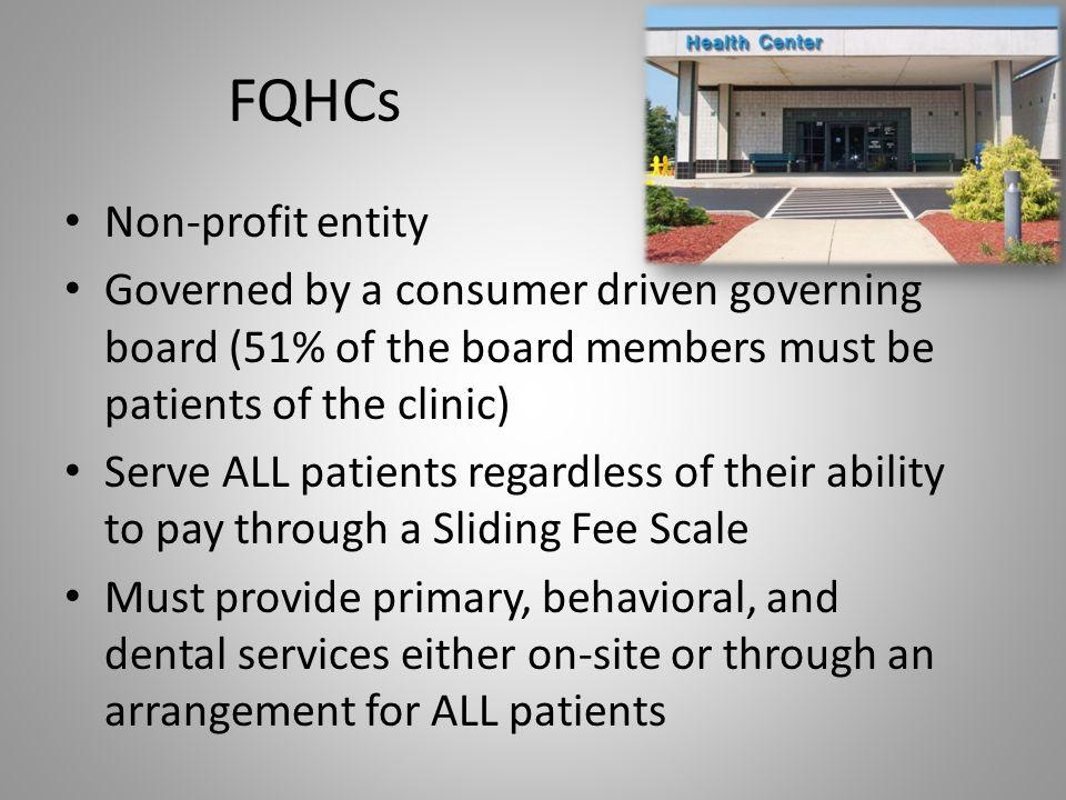 FQHCs Non-profit entity