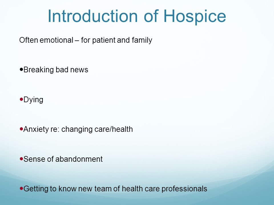 Introduction of Hospice