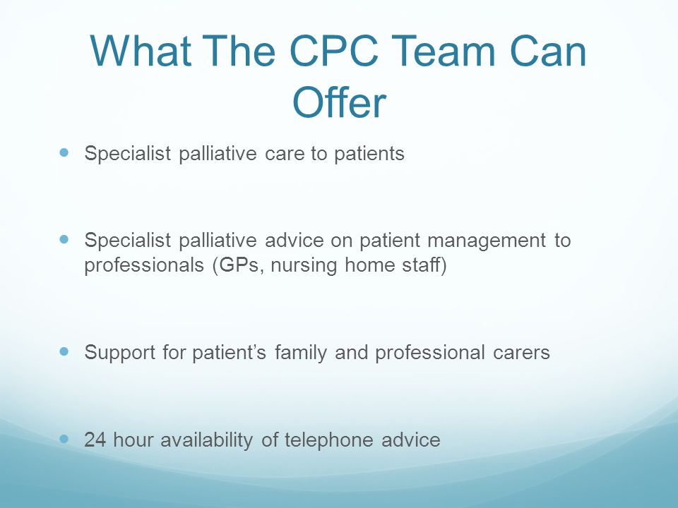 What The CPC Team Can Offer