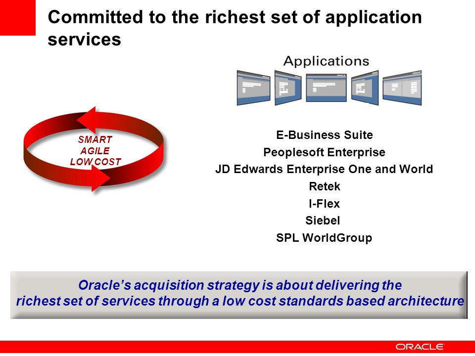 Committed to the richest set of application services