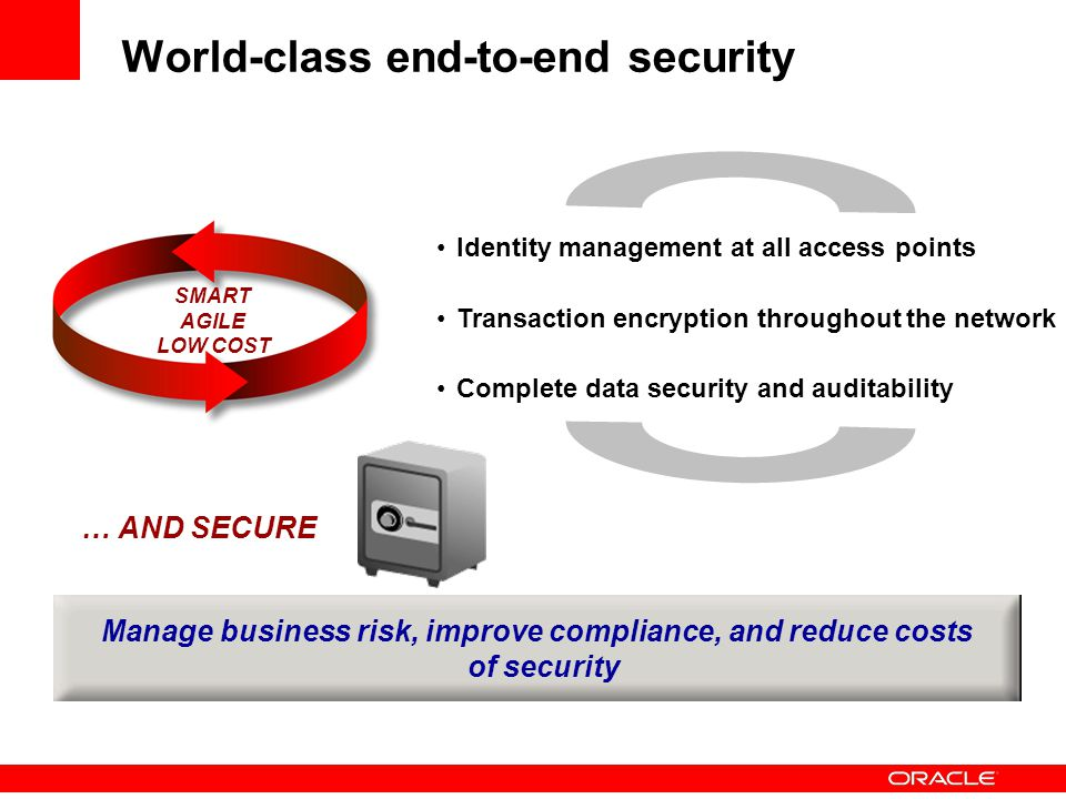 World-class end-to-end security