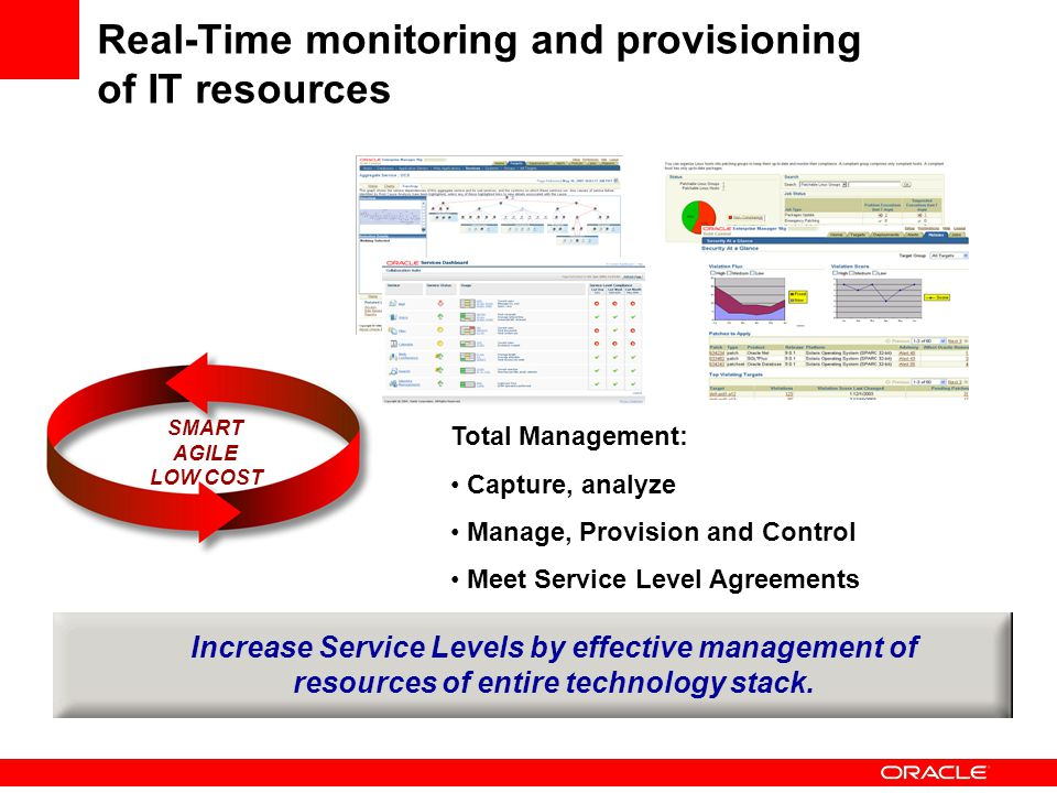 Real-Time monitoring and provisioning of IT resources