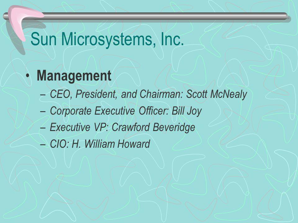 Sun Microsystems, Inc. Management