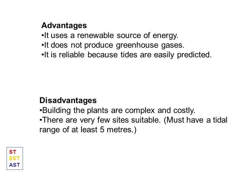 It uses a renewable source of energy.