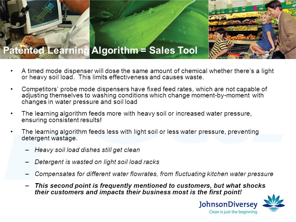 Patented Learning Algorithm = Sales Tool