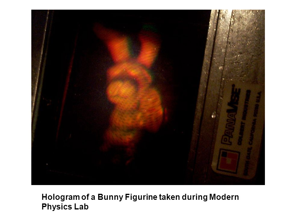 Hologram of a Bunny Figurine taken during Modern Physics Lab