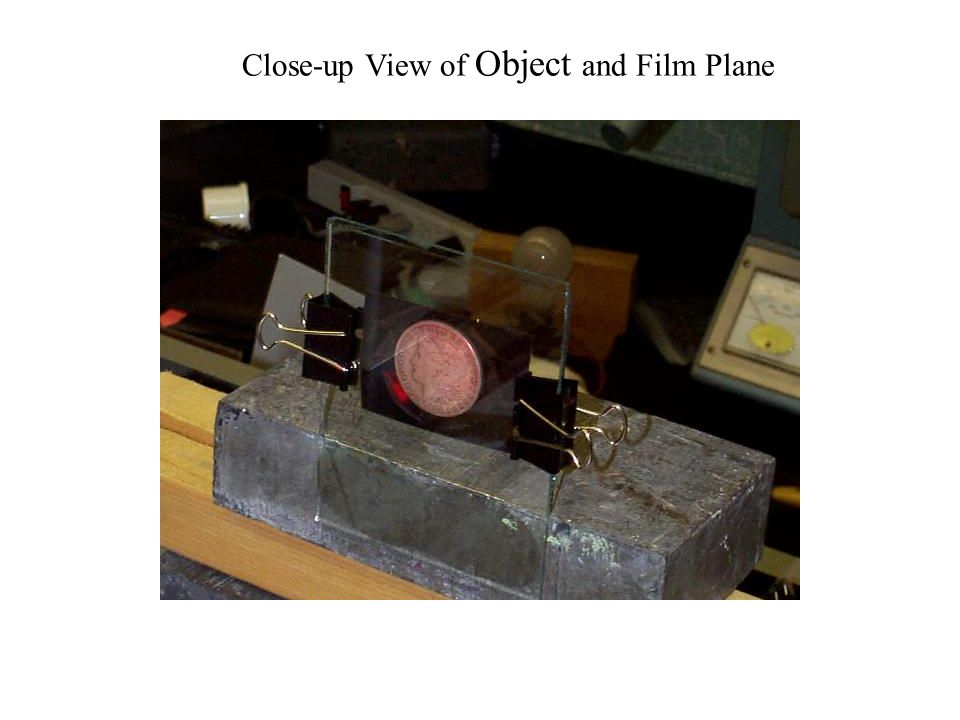 Close-up View of Object and Film Plane