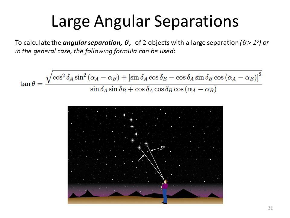 Large Angular Separations
