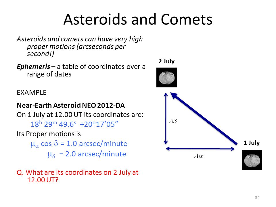 Asteroids and Comets 18h 29m 49.6s +20o17'05