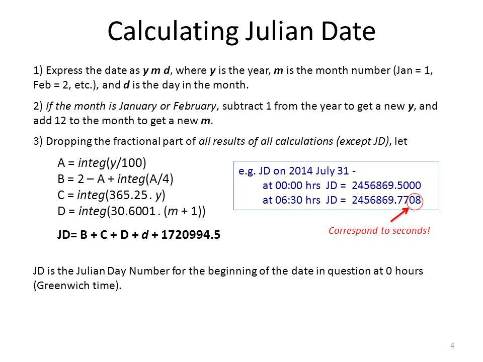 Calculating Julian Date