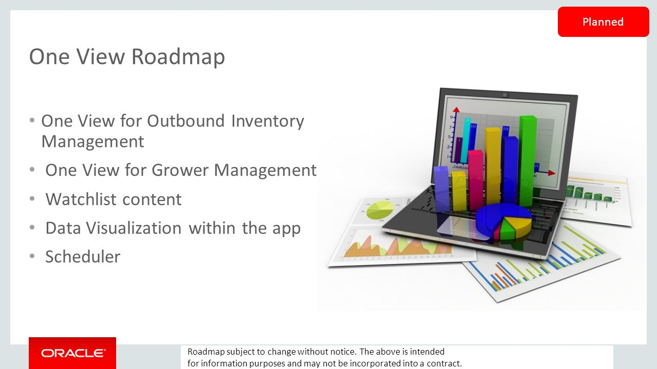 One View Roadmap One View for Outbound Inventory Management