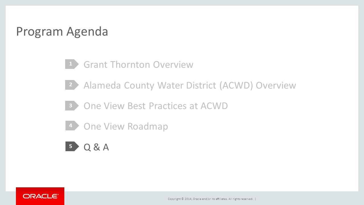 Program Agenda Grant Thornton Overview