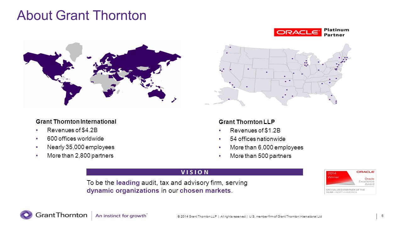 About Grant Thornton V I S I O N
